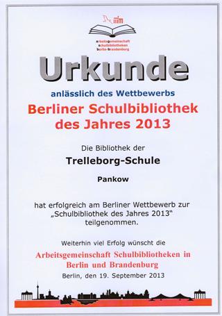 Bibliotheks-Urkunde
